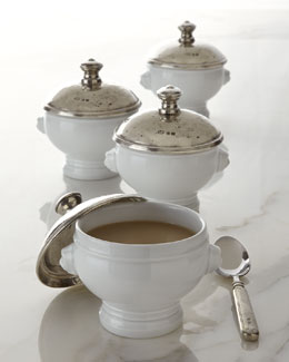 ValPeltro Soup Tureen & Covered Soup Bowls