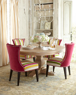 Lee Industries Taylor Pedestal Table & Kalli Dining Chair