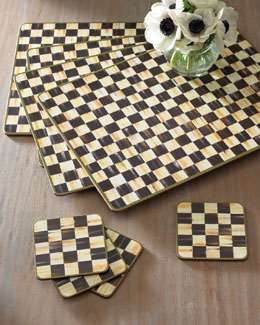 MacKenzie-Childs Courtly Check Placemats & Coasters
