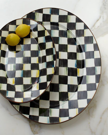 Small Courtly Check Oval Platter