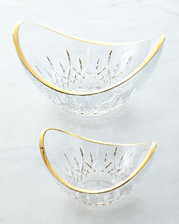 Waterford Lismore Essence Golden Ellipse Bowl