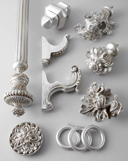 Silver-Leaf Curtain Hardware