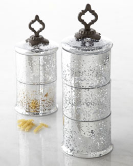 GG Collection Ogee-G Stacking Glass Jars