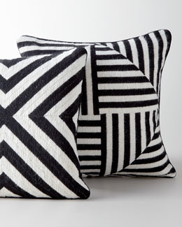 Jonathan Adler Black-and-White Bargello Pillows