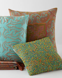 Sabira Contemporary Pillows & Throw