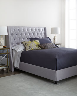 Maypearl Wingback Bed