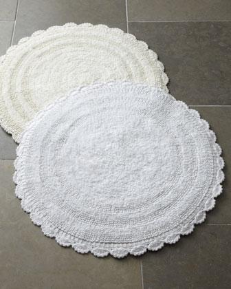 Crochet Border Bath Rugs