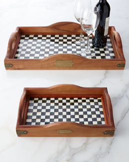 MacKenzie-Childs Courtly Check Hostess Tray
