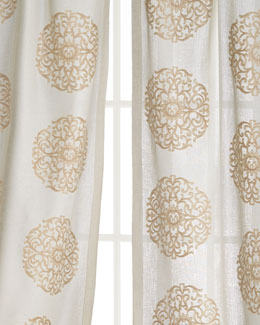 SOFTLINE HOME FASHIONS Windsor Medallion Curtains