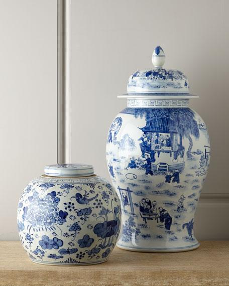 Vintage Blue-Ground Jar