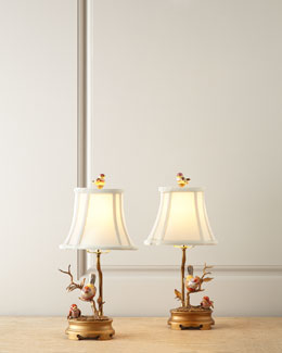 Porcelain Bird Lamps