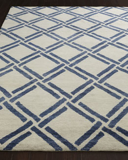 Safavieh Navy Lattice Rug