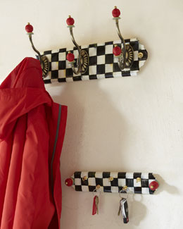 Courtly Check Triple-Hook Coat/Hat Rack