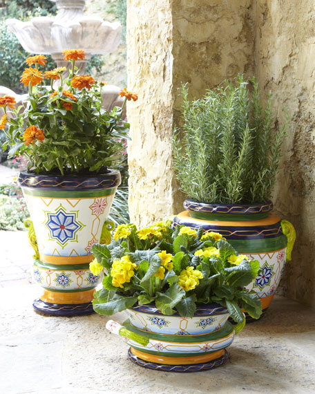 Moroccan Tile Bowl Planter