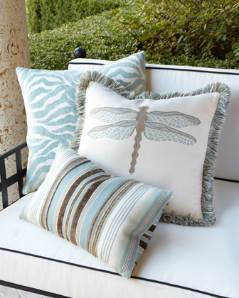 Aqua Outdoor Pillows