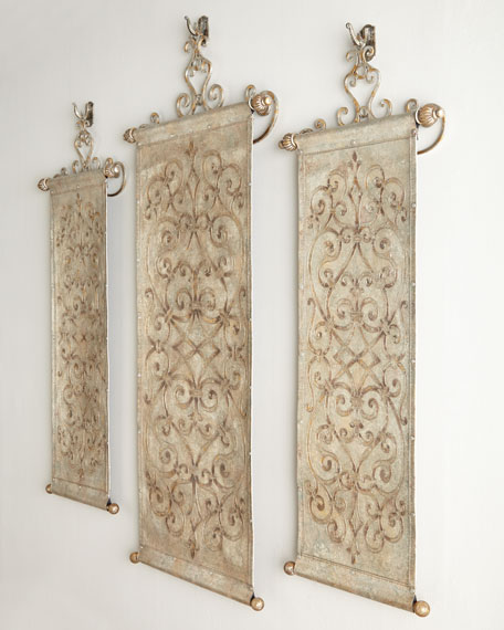 "Two Outer ""Ironwork"" Tapestries"