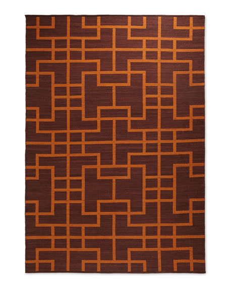 "Interlock Maze Rug, 5'3"" x 7'5"""