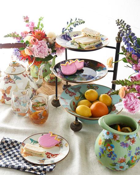 Butterfly Garden White 3-Quart Tea Kettle