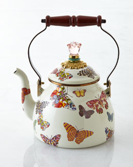 MacKenzie-Childs Butterfly Garden Tea Kettle