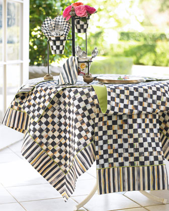 MacKenzie-Childs Courtly Check Table Linens - Horchow