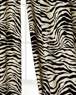 Scalamandre Maison by Eastern Accents Zebra-Stripe Curtains