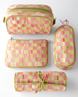 MacKenzie-Childs Tulip Check Travel Accessories