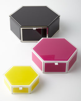 Swing Design Mia Glass Hexagon Storage Box
