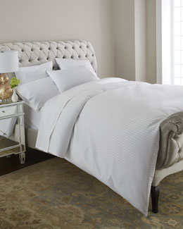Home Silks, Inc. Savannah White Tonal-Stripe Bedding