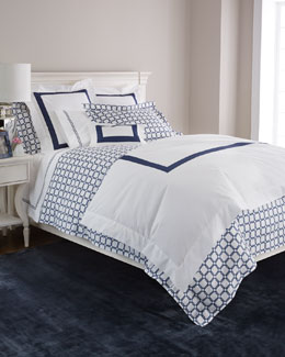 SFERRA Navy Graphics Bedding