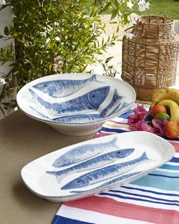 Pesci Serving Platter & Bowl