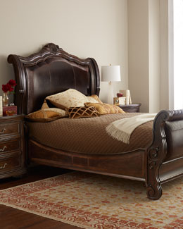 Colette Sleigh Bed Bedroom Furniture
