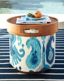 Katharine Webster Greco Round Pouf Collection