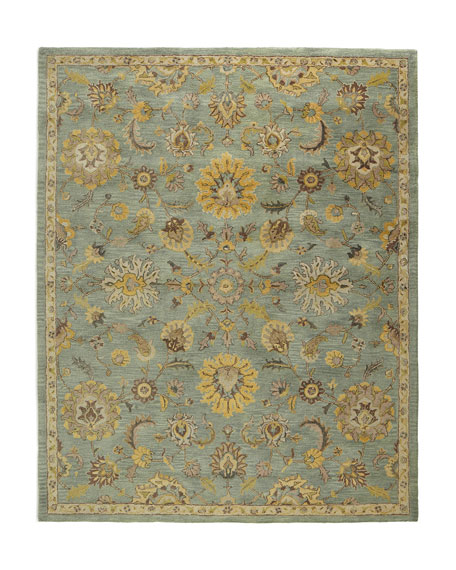 Astral Blossom Rug, 8' Round