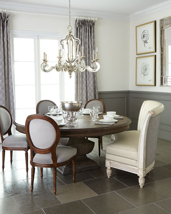 Bolin Banquette  Genevieve Side Chair  & Donabella Dining Table