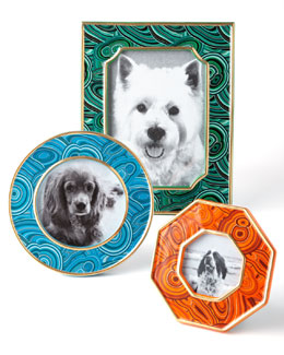 Malachite-Inspired Picture Frames