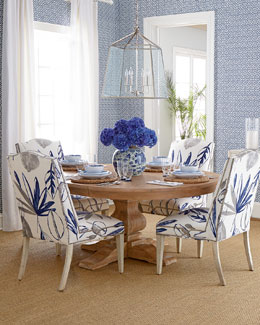 Allison Botanical Chair & Taylor Pedestal Table