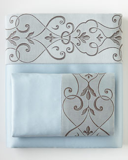 Eastern Accents Azure Ornato Sheets