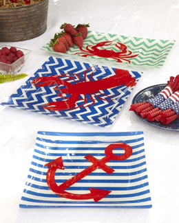 Shiraleah Home Fashion Accessories Nautical-Theme Glass Plates
