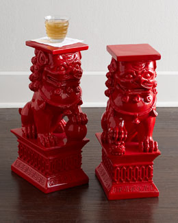 Foo Dog Side Table