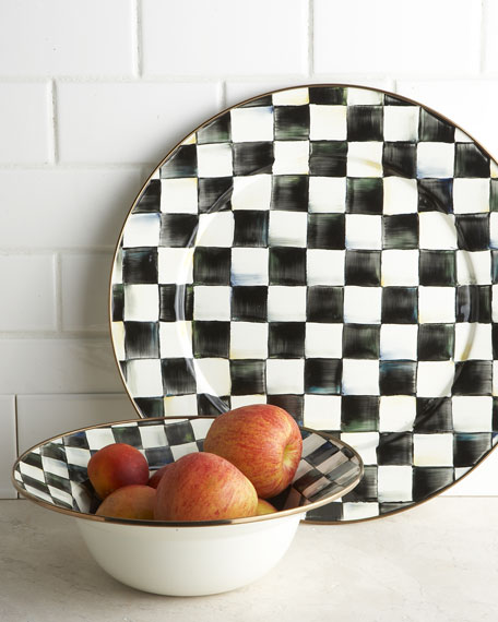 Courtly Check Serving Platter