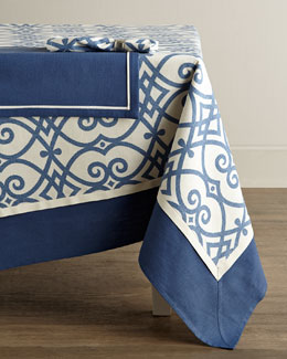 Legacy Brynn Indigo Tablecloths & Napkins, Jefferson Placemats