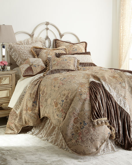 King French Chantilly Floral Brocade Duvet Cover