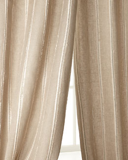 Creative Threads Radiant Striped Linen Curtains