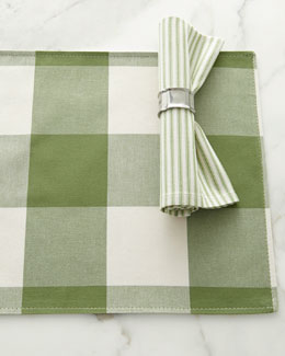French Laundry Home Buffalo-Check Placemats & Ticking-Stripe Napkins
