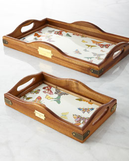 MacKenzie-Childs Butterfly Garden Hostess Tray