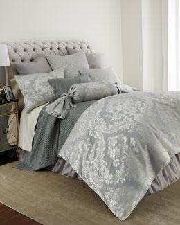 Fino Lino Linen & Lace Athena Azure Bedding