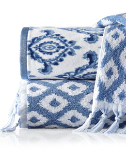 Dena Home Madison Navy-Patterned Towels