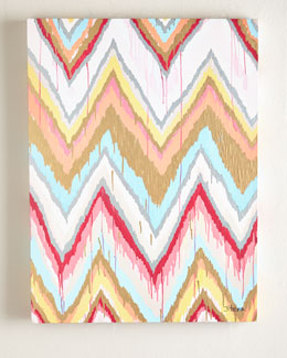 Jennifer Moreman Global Chevron Abstract