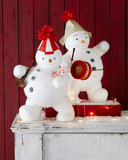 Bethany Lowe Snowman with Instruments Figures