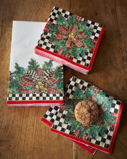 Evergreen Holiday Paper Napkins